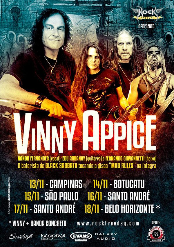 Edu Ardanuy com Vinnie Appice no Brasil